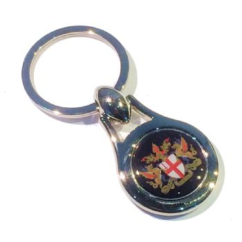 Keyring Blank Pear 23.5mm and printed dome (bagged)